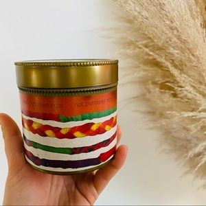 NEW ANTHROPOLOGIE Buttered Rum Scented Tin Candle